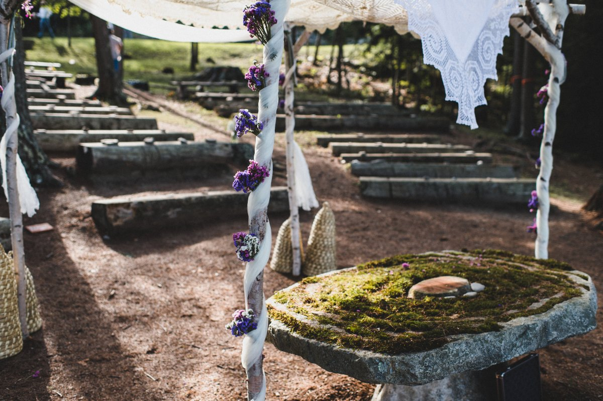 camp-kieve-wedding-ceremony-arbor