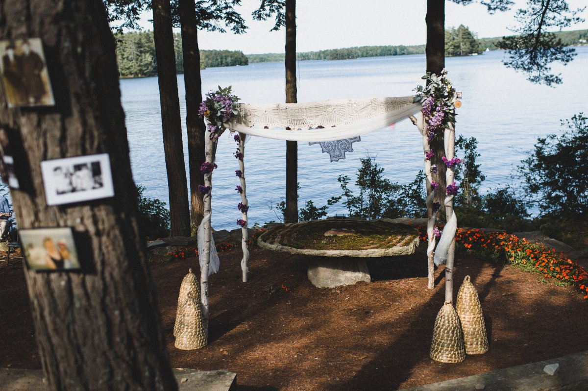 camp-kieve-wedding-outdoor-ceremony