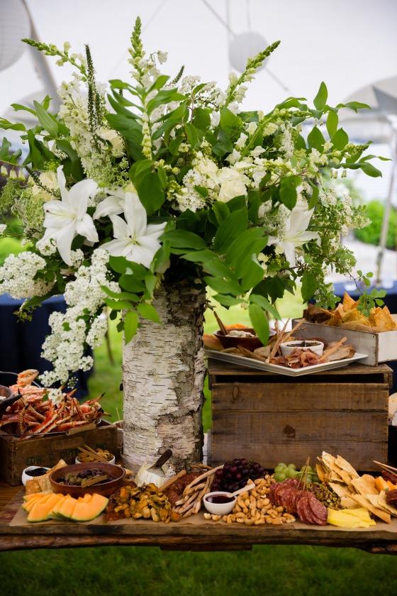 Flanagan Farm Wedding - Stationary Appetizer Table