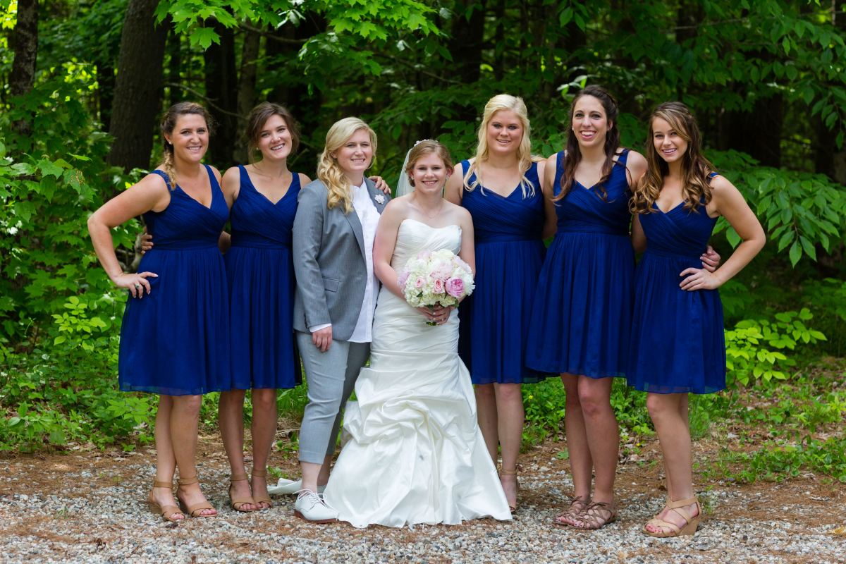 Flanagan Farm Wedding Bridesmaids Portrait