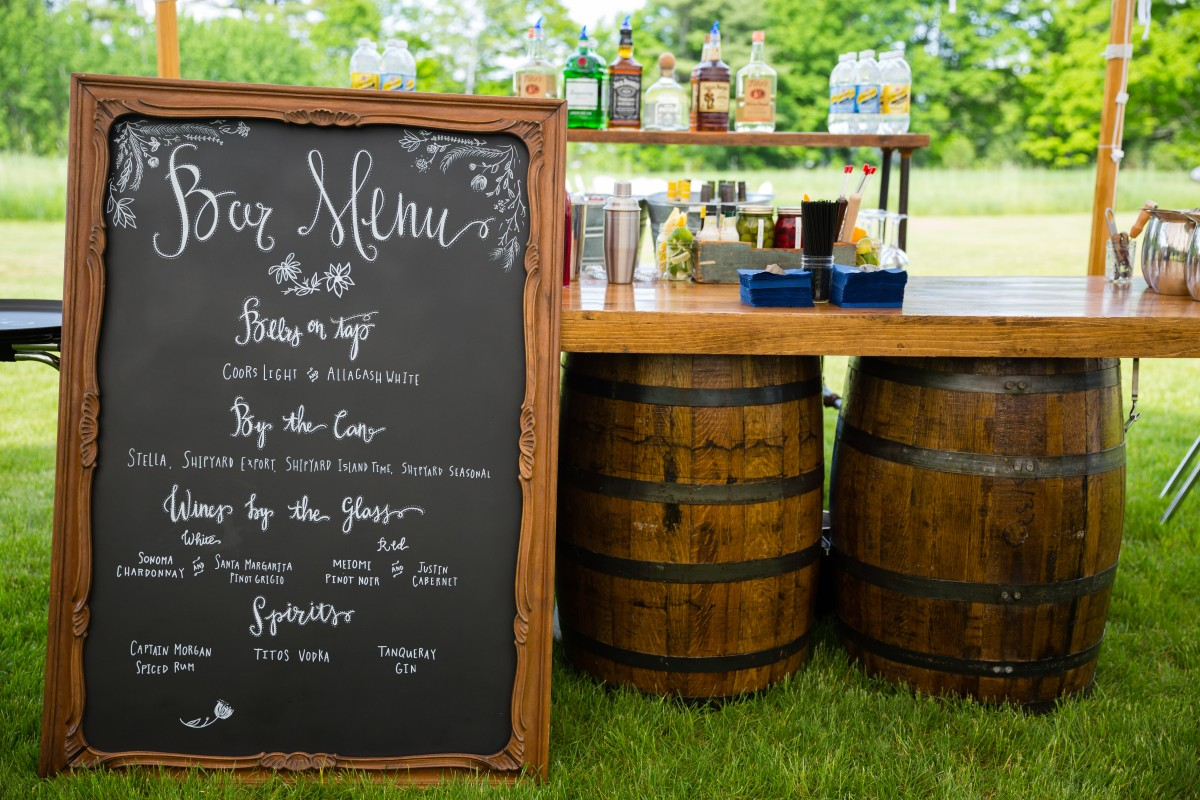 Flanagan Farm Wedding - Cocktail Hour Bar Menu