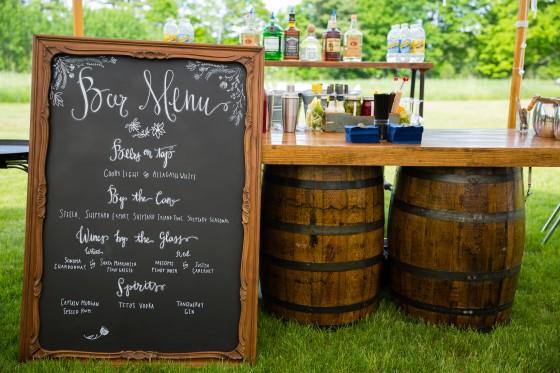 Flanagan Farm Wedding - Cocktail Hour Bar Menu