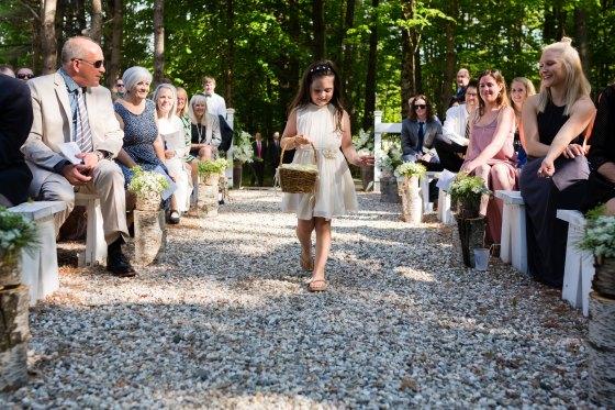 Flanagan Farm Wedding - Flower Girl