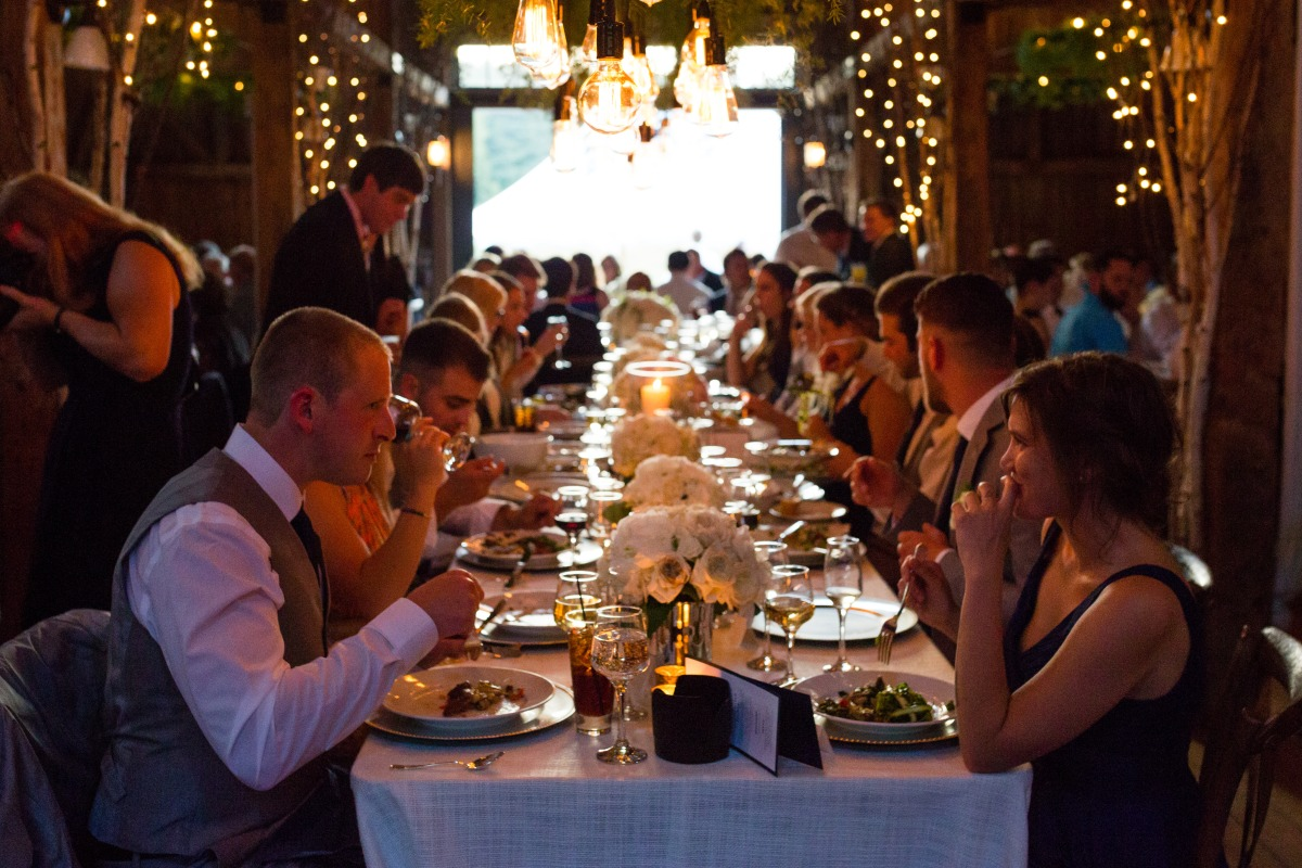 Flanagan Farm Wedding - Dinner Service