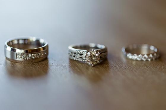 Granite Ridge Wedding Bride and Groom Rings