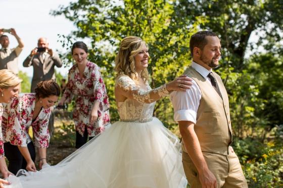 Granite Ridge Wedding First Look Photography