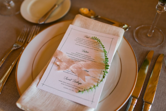 Granite Ridge Wedding Place Setting Details