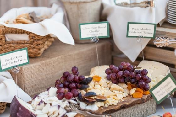 Granite Ridge Wedding Stationary Appetizer Display
