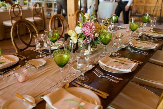 Granite Ridge Wedding Tablescape Decor and Details