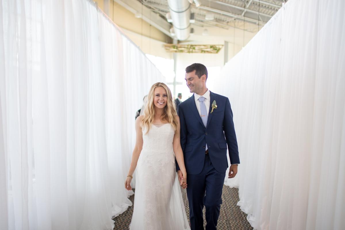 Ocean Gateway Wedding Bride and Groom Aisle