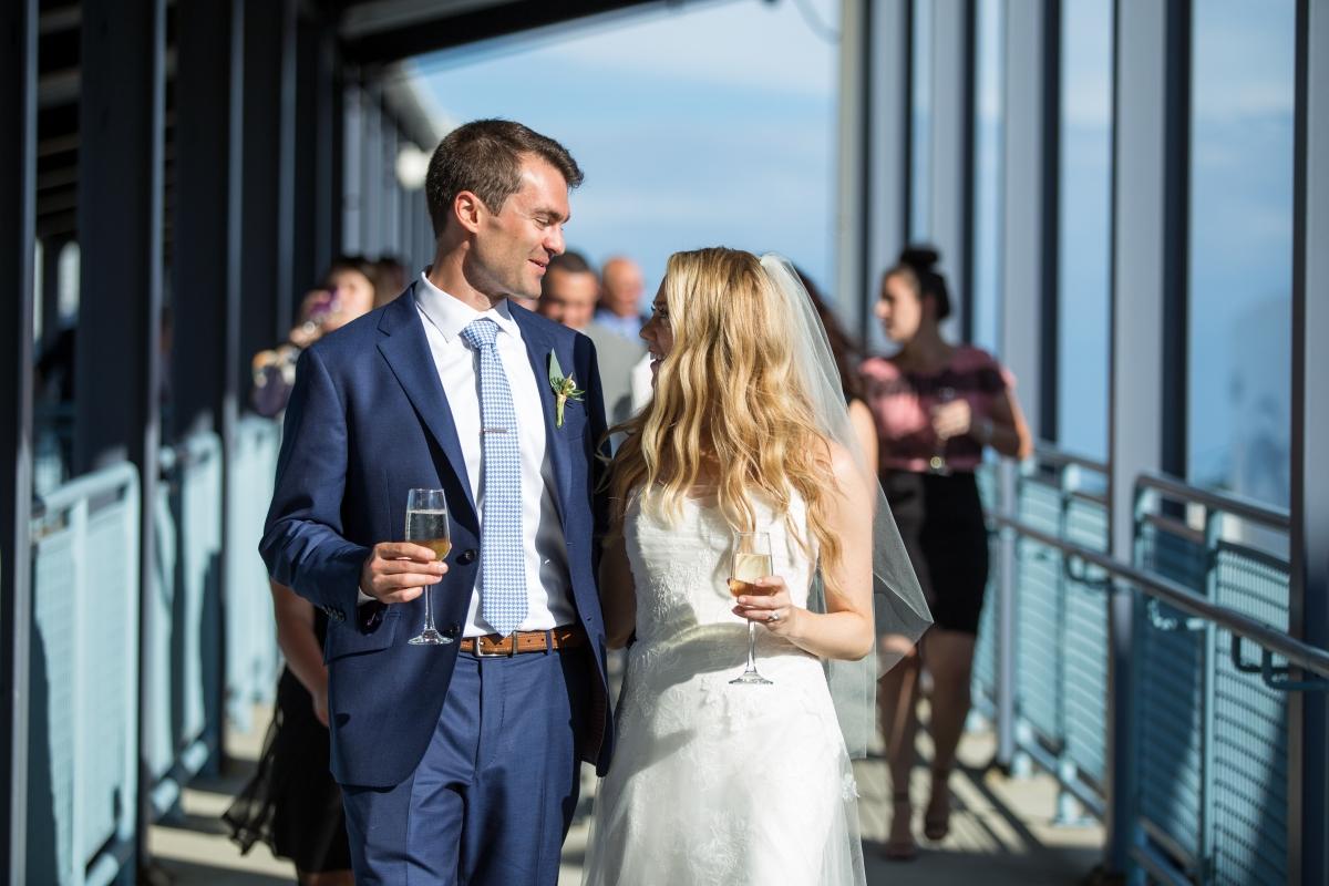 Ocean Gateway Wedding Bride and Groom Cocktail Hour
