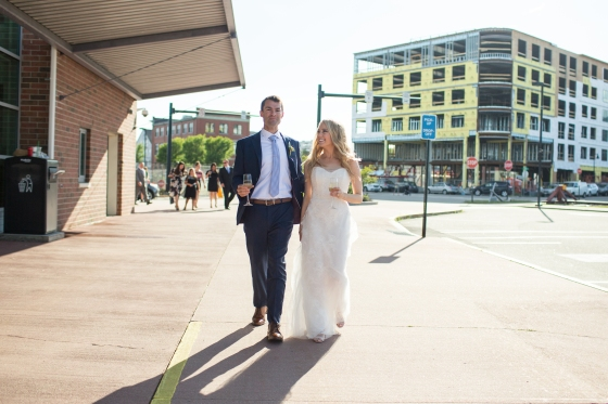 Ocean Gateway Wedding Bride and Groom Downtown