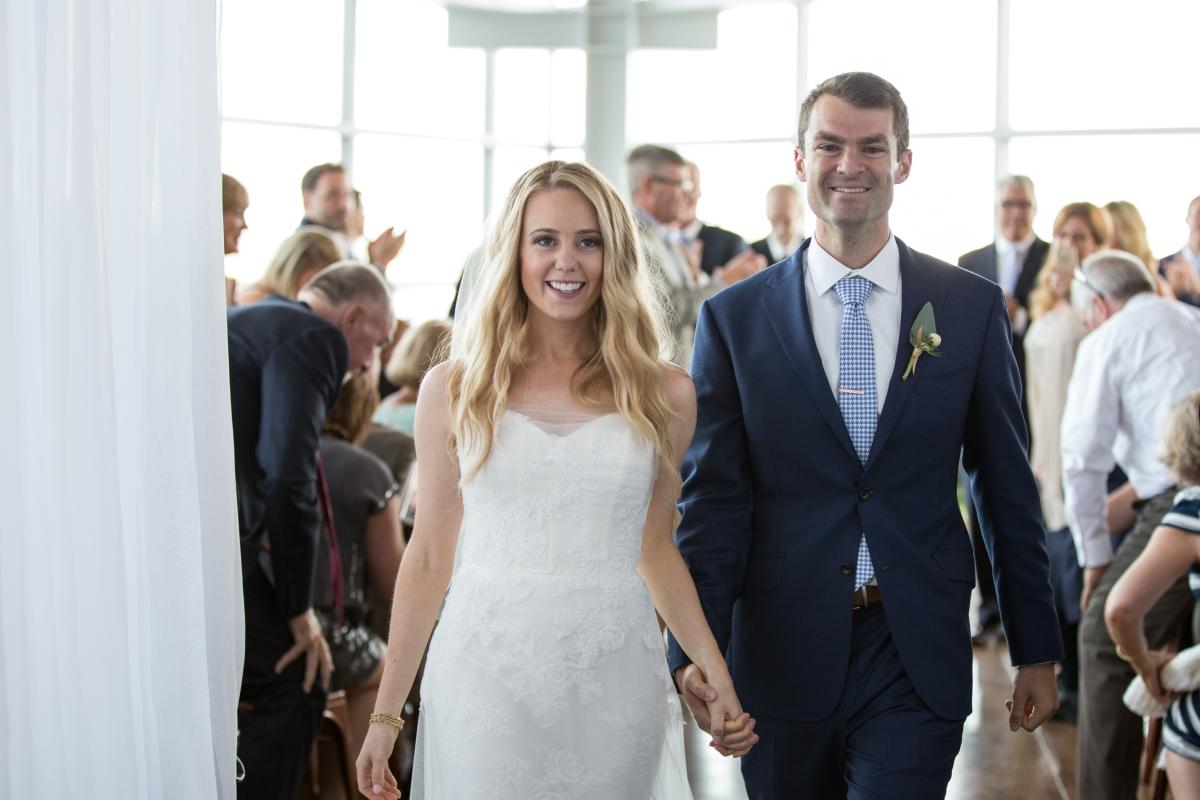 Ocean Gateway Wedding Bride and Groom Just Married