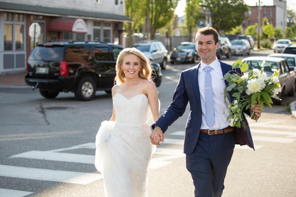 Ocean Gateway Wedding Bride and Groom Walk