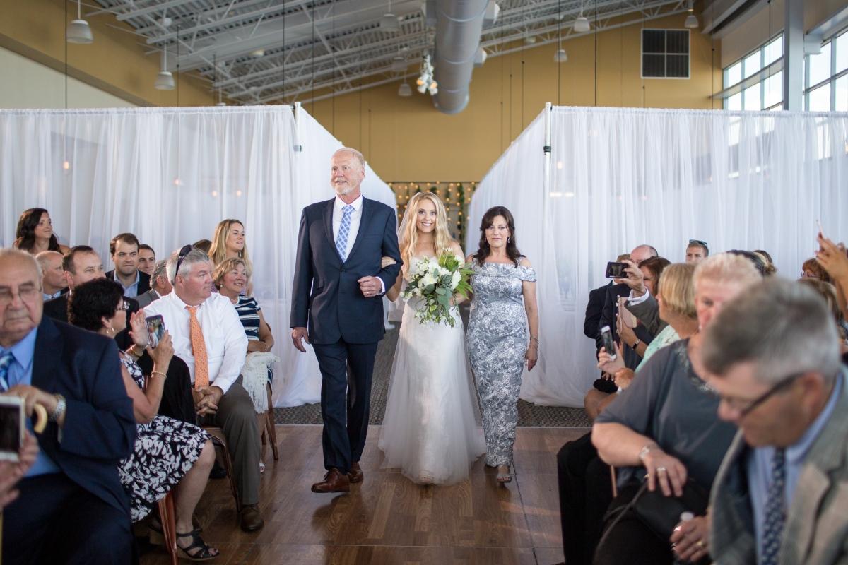 Ocean Gateway Wedding Bride and Parents
