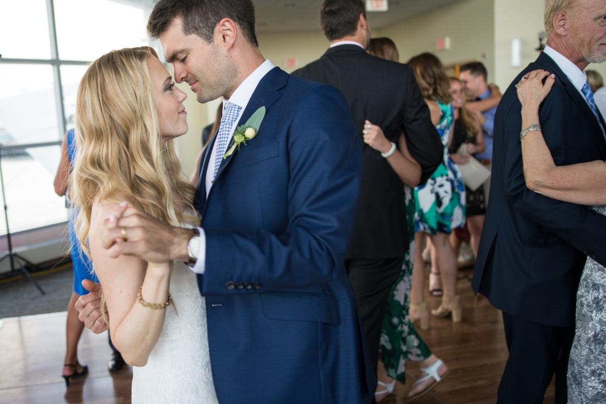 Ocean Gateway Wedding Bride Groom Dance