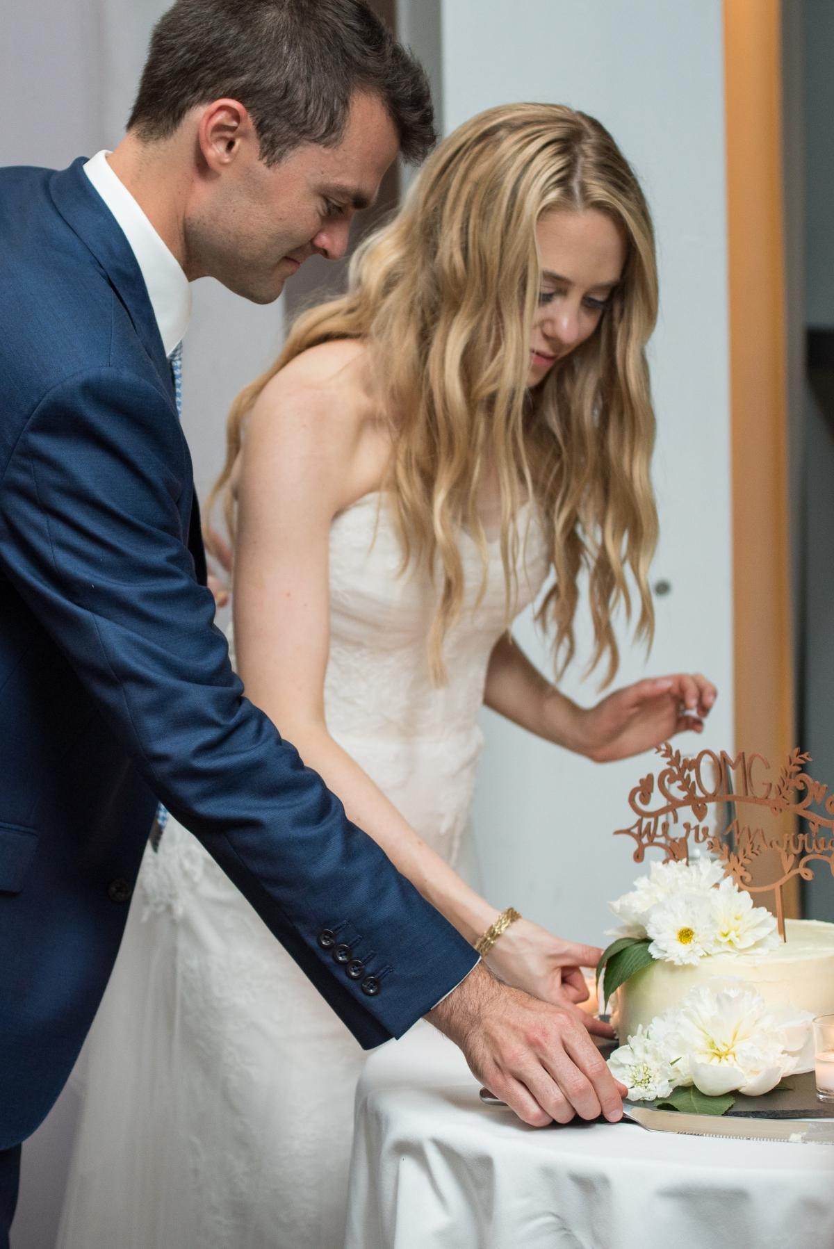 Ocean Gateway Wedding Cake Cutting