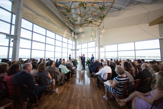 Ocean Gateway Wedding Ceremony Afar