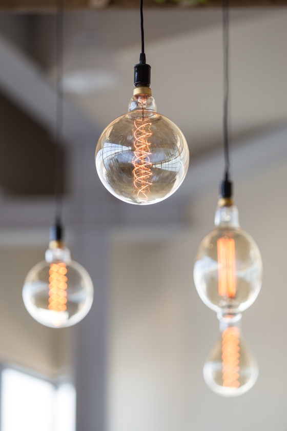 Ocean Gateway Wedding Edison Bulbs