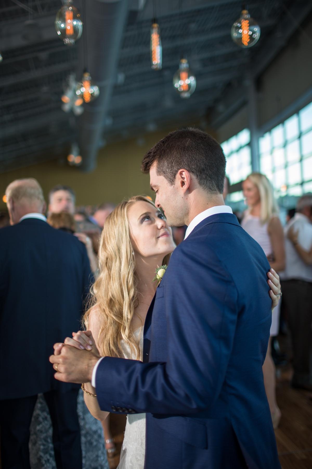 Ocean Gateway Wedding Groom Bride Dance