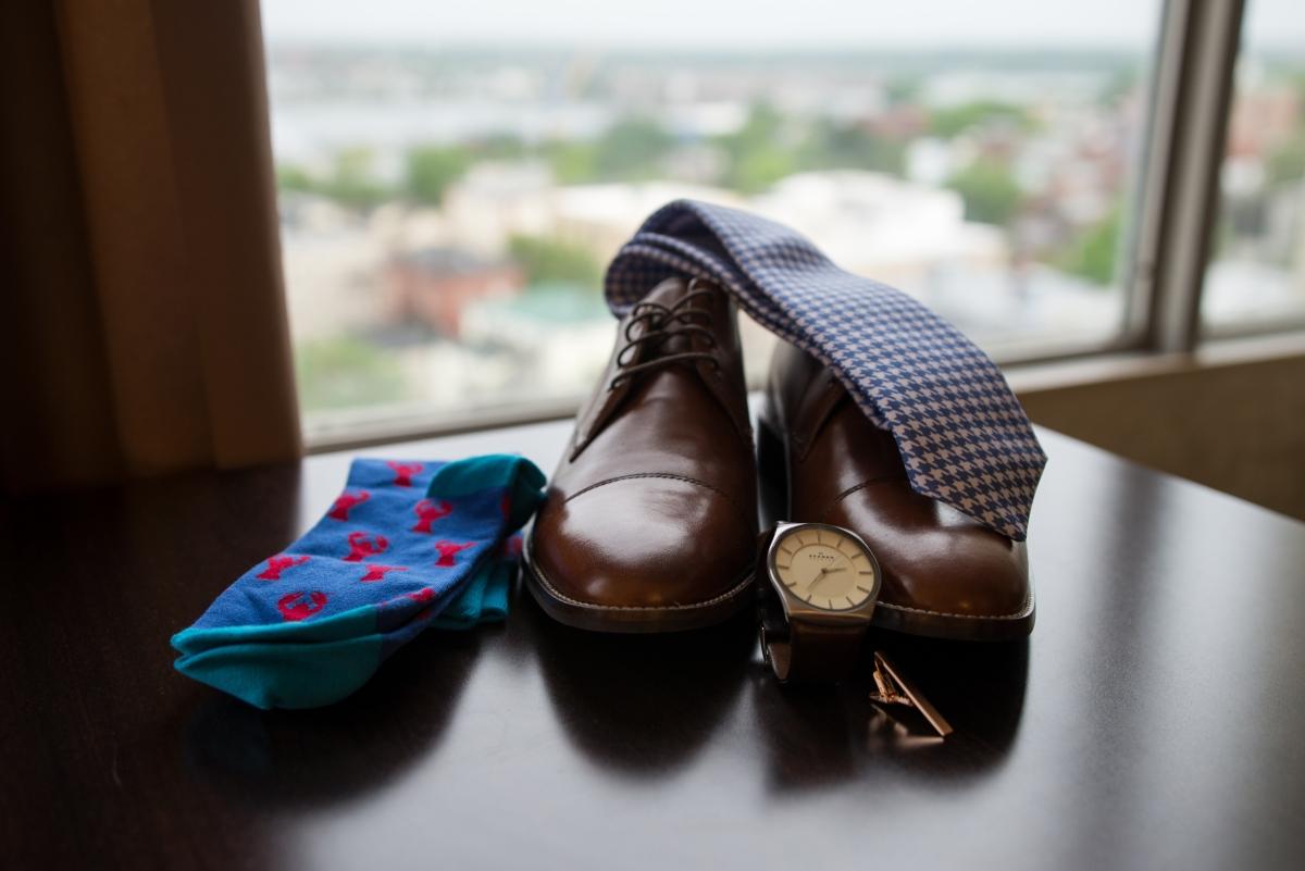 Ocean Gateway Wedding Groom Shoes