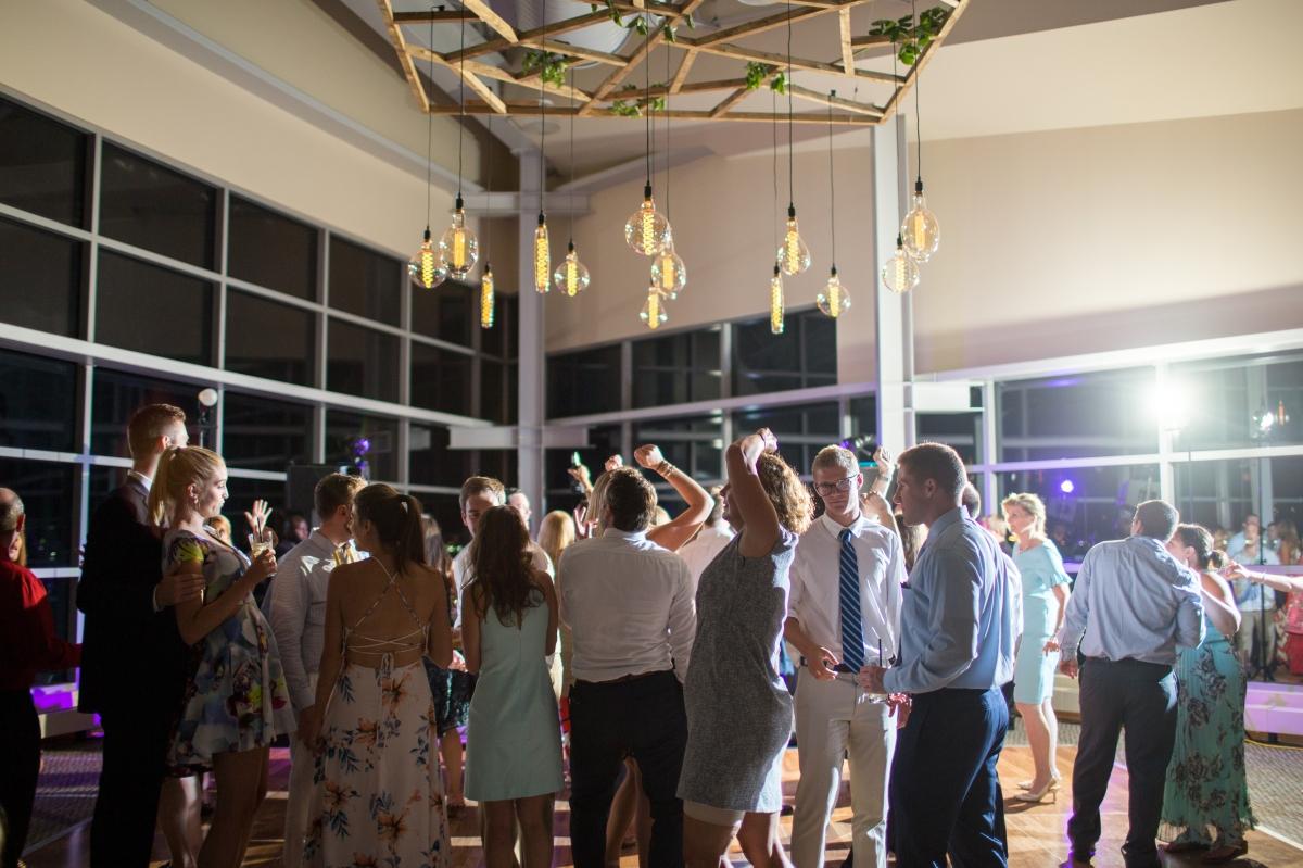 Ocean Gateway Wedding Group Dancing