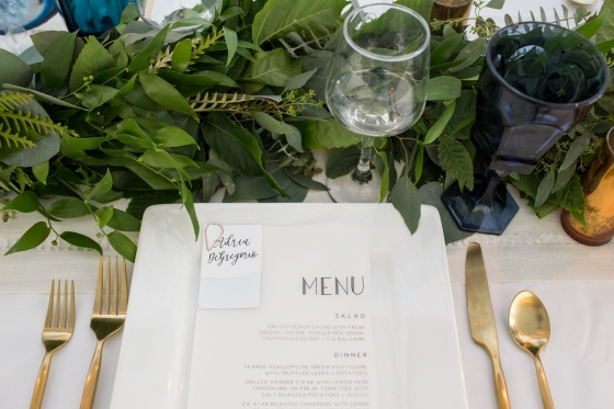 Ocean Gateway Wedding Place Setting