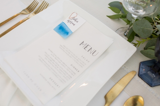 Ocean Gateway Wedding Place Settings