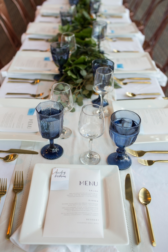 Ocean Gateway Wedding Table Detail