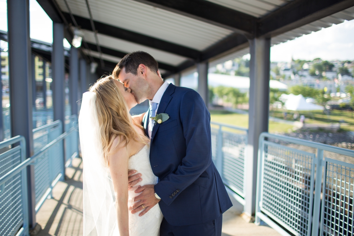 Ocean Gateway Wedding Terminal Kiss