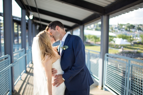 Ocean Gateway Wedding Terminal Kiss