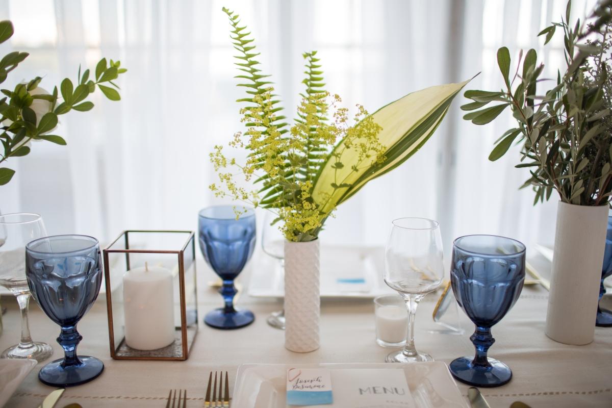 Ocean Gateway Wedding Vase and Glasses