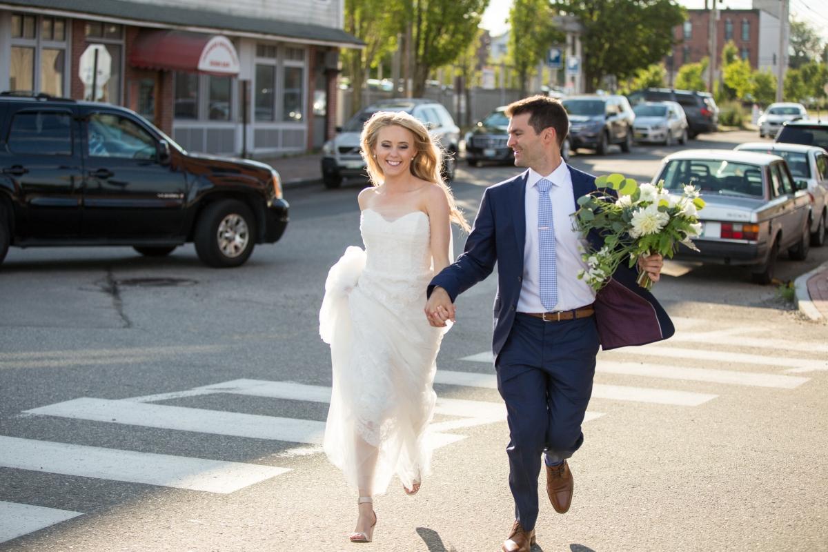 Ocean Gateway Wedding Bride Groom Walk