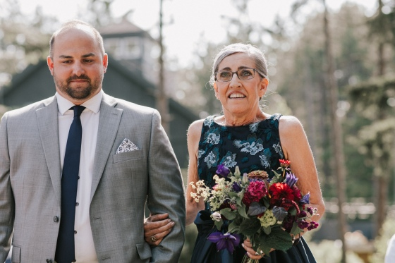 Mother of the Bride at  Hidden Pond wedding in Kennebunkport, Maine