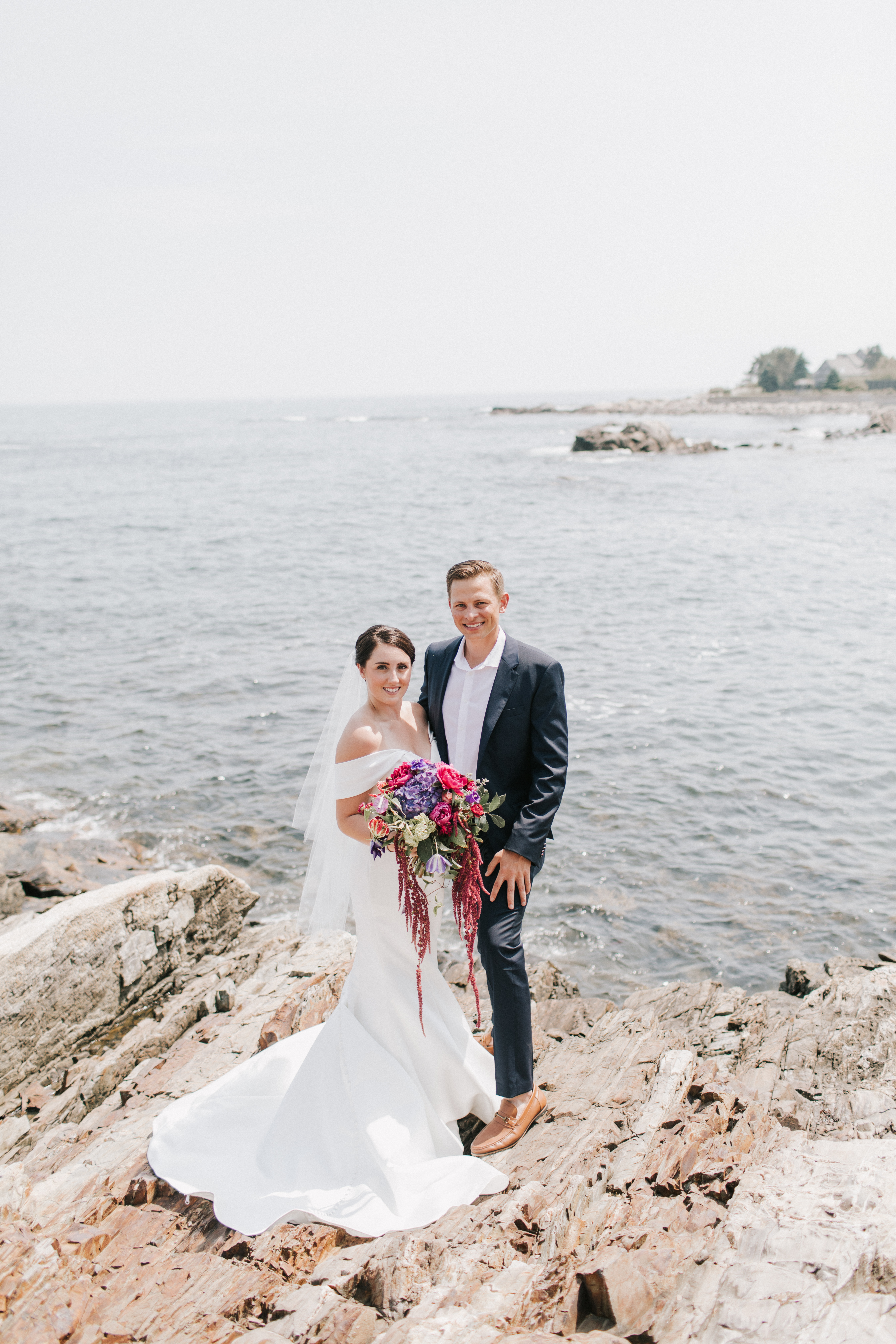 Wedding pictures on the coast of Maine