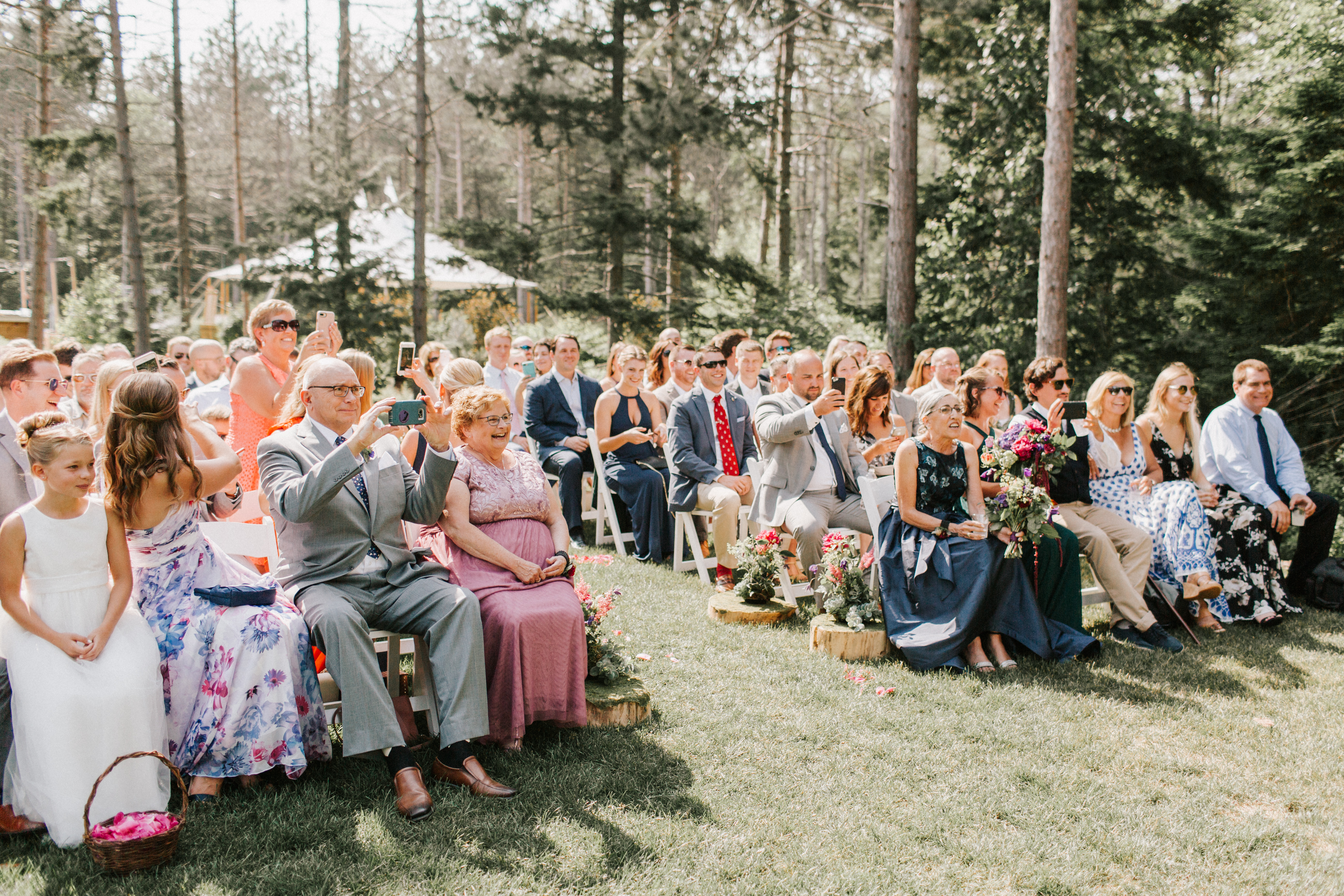 Ceremony at  Hidden Pond wedding in Kennebunkport, Maine