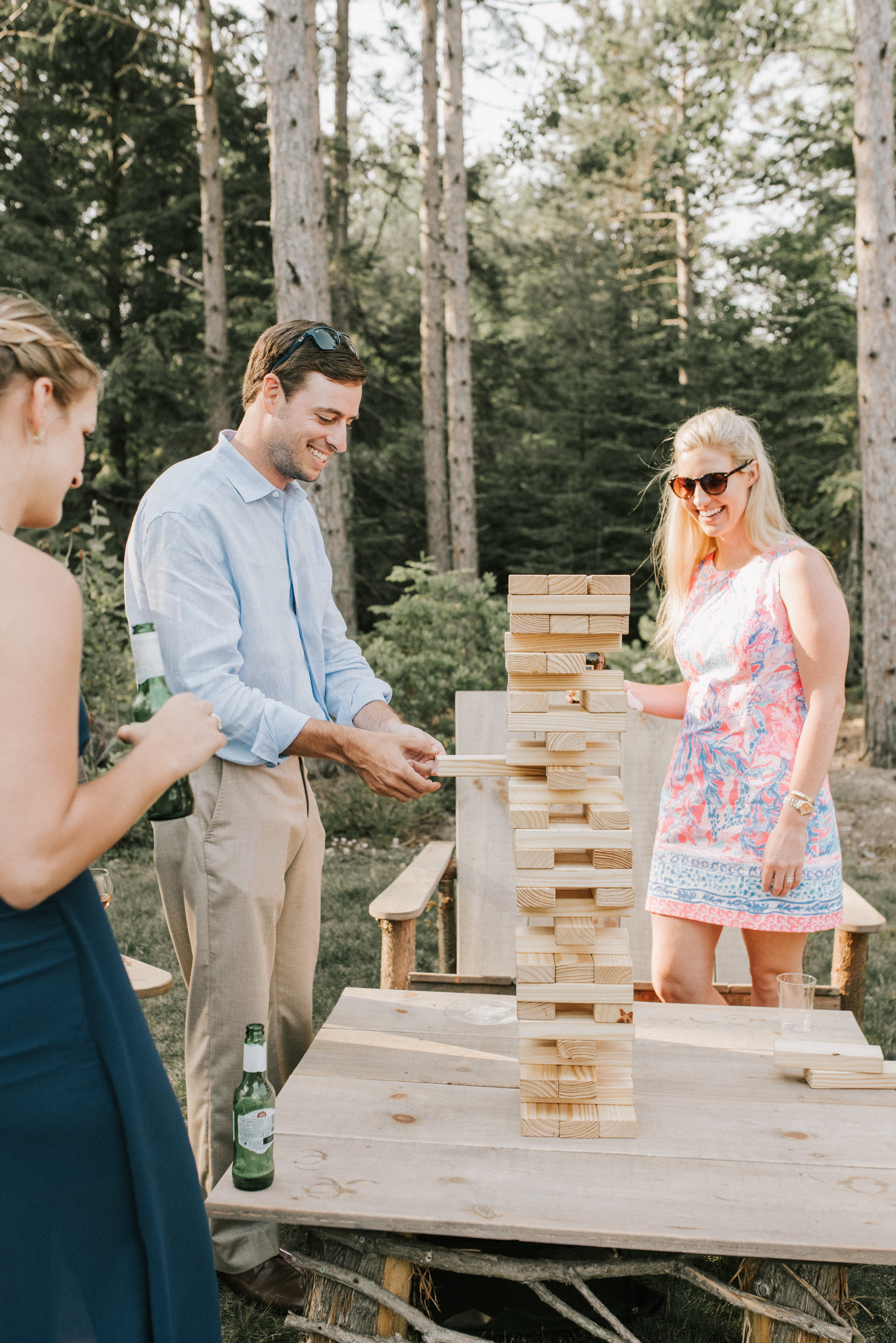 Giant jenga for weddings - A Family Affair of Maine rental