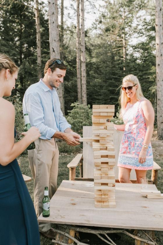 Giant jenga for weddings - A Family Affair of Maine rental