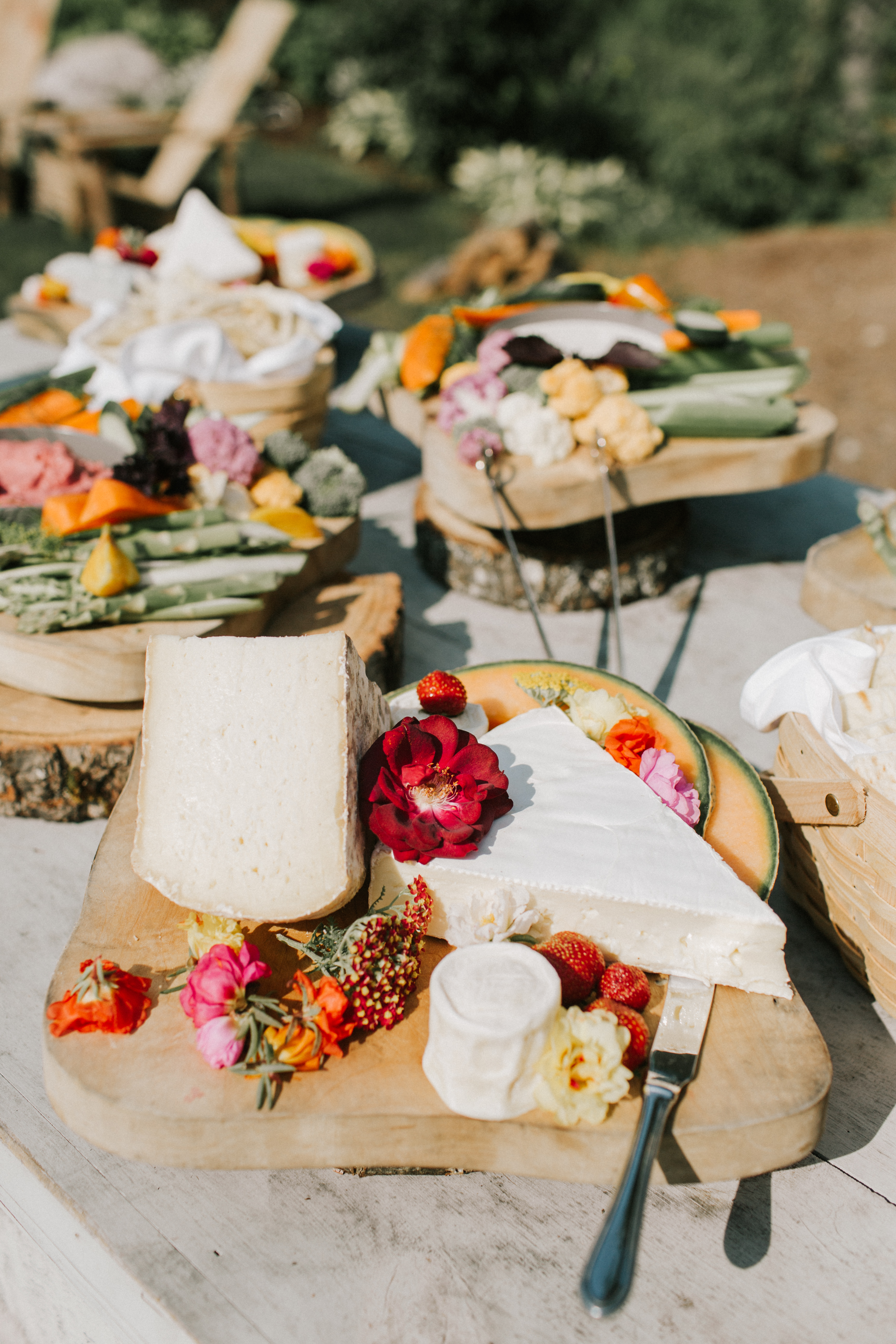 Beautiful appetizers at Hidden Pond wedding in Kennebunkport, Maine