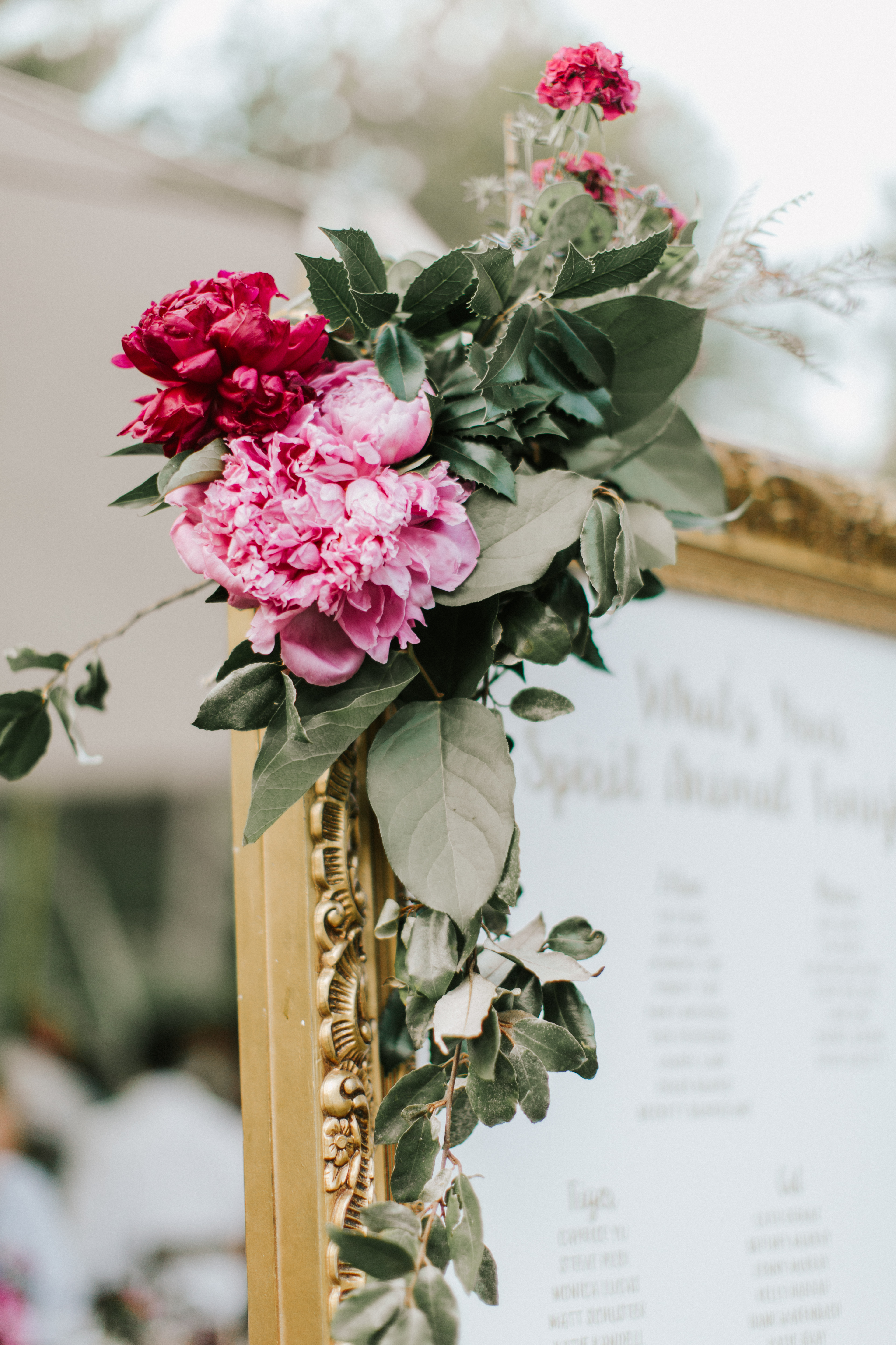Floral details at Hidden Pond Wedding in Kennebunkport, Maine