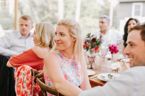 Wedding guest at Hidden Pond Wedding in Kennebunkport, Maine