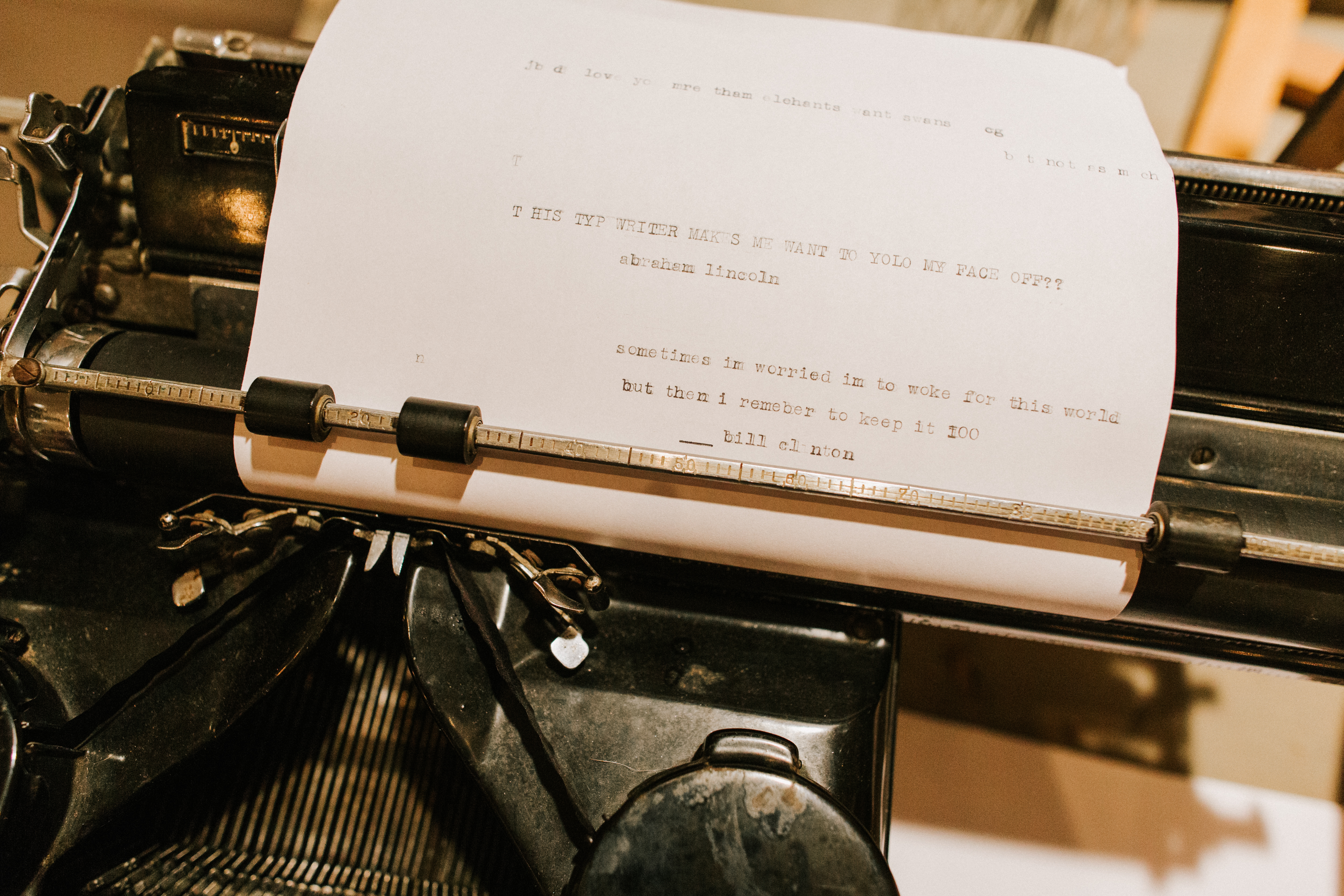 Antique typewriter at Hidden Pond Wedding in Kennebunkport, Maine