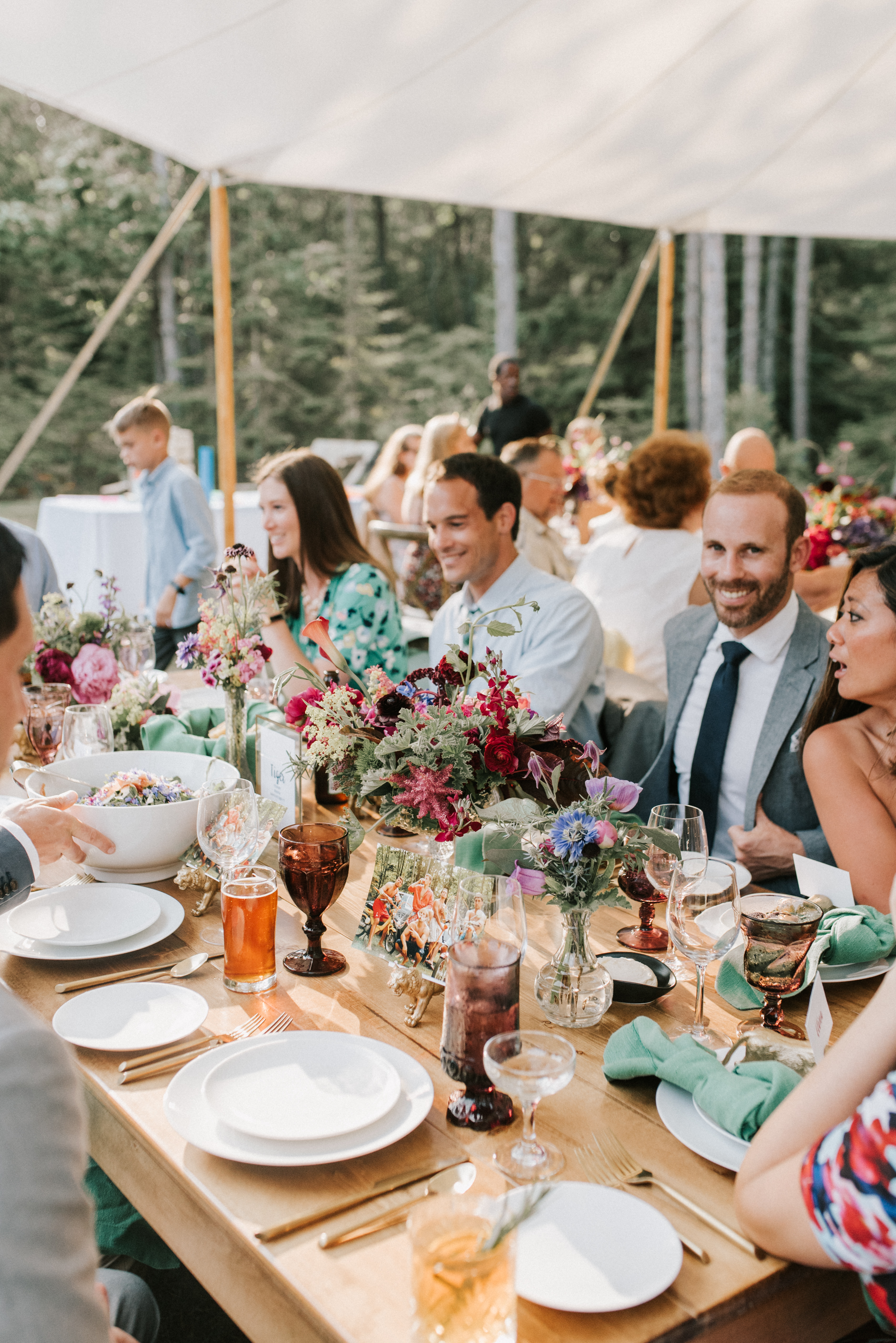 Reception at Hidden Pond Wedding in Kennebunkport, Maine