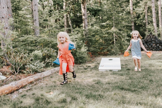 Lawn games A Family Affair of Maine rentals for Maine wedding