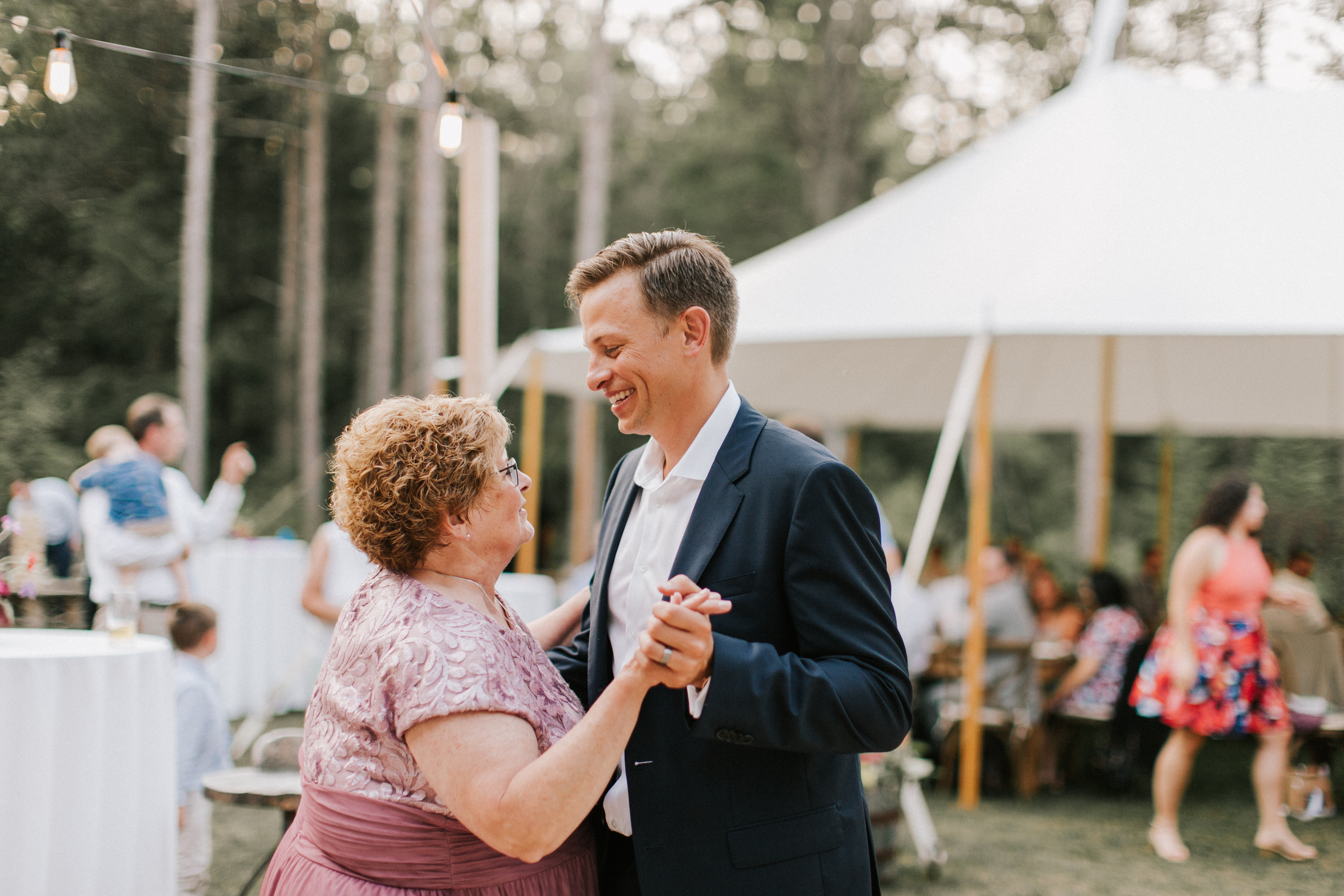 Mother-Son dance at Hidden Pond Wedding in Kennebunkport, Maine