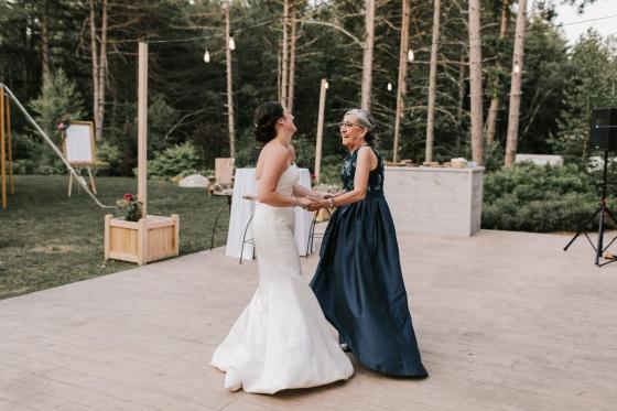 Mother-Daughter dance at Hidden Pond Wedding in Kennebunkport, Maine