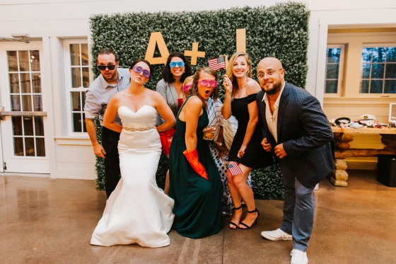 Photo booth picture at Hidden Pond Wedding in Kennebunkport, Maine