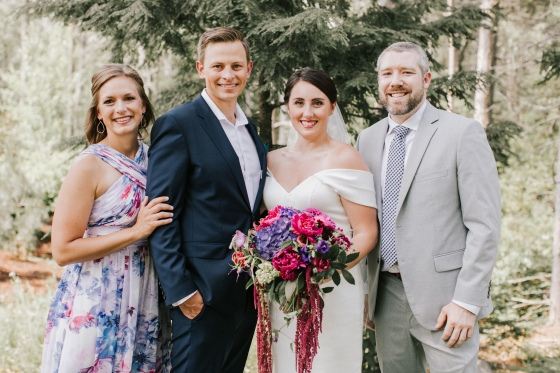 Portrait photography at Hidden Pond wedding in Kennebunkport, Maine
