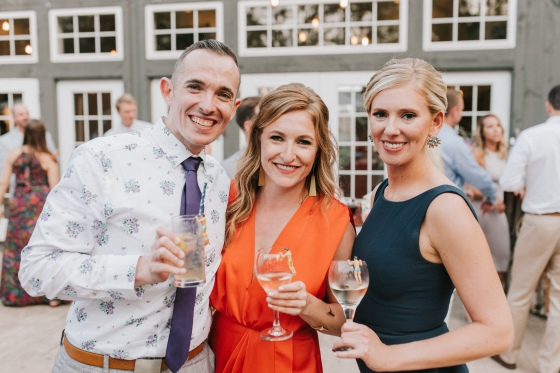 Wedding party members at Hidden Pond Wedding in Kennebunkport, Maine