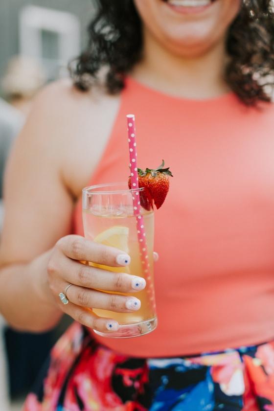 Signature drink Hidden Pond wedding in Kennebunkport, Maine